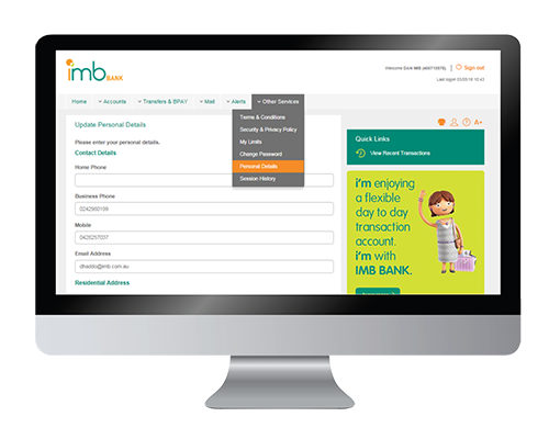 Internet Banking Imb Bank